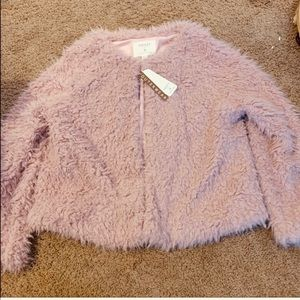 Blush fuzzy Sherpa women's